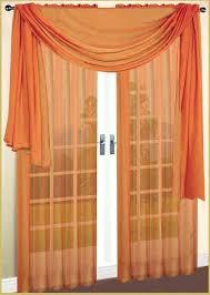 Chiffon Curtains Online India by Stylish Orange Sheer Curtains U2013 Muarju