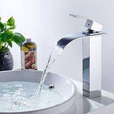 bonade wasserhahn einhebel wasserfall für waschbecken einhebel waschtischarmaturen bad armatur badezimmer waschbecken mischbatterie