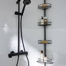 eckregal für das badezimmer verlängerbar schwarz la redoute
