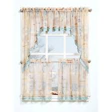 Boscovs Window Curtains by Seascape Print W Beads Curtain Collection Boscov U0027s