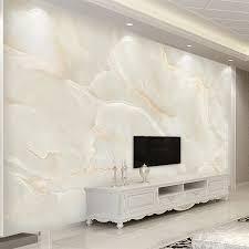 foto tapete moderne einfache beige marmor hintergrund wandbild wohnzimmer tv sofa hotel luxus decor papel de parede sala 3 d