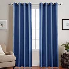 ckny sheer gardine halb transparent lässige vorhang wohnzimmer mit ösen mit schlaufen 2 stücke 225 x 140cm h x b 2er set dunkel blau