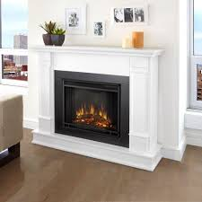 Decor Flame Infrared Electric Stove by Real Flame Silverton 48 In Electric Fireplace In White G8600e W