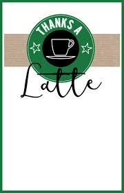 Easy Starbucks Drawing Lovely Teacher Thank You Printable Cards Pinterest