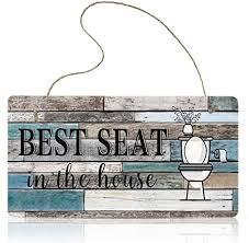 lustig badezimmer dekor schild best seat in the house wand kunst schild hängend wand kunst zeichen haus badezimmer dekor 11 8 x 5 9 zoll