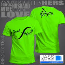 infinity shirts for couples infinity shirts for him u0026 her