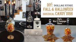 Halloween Candy Dishes by Fall Halloween Diy Candy Dish Dollar Store Youtube