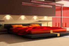 Gold And Red Bedroom Design Home Pleasant