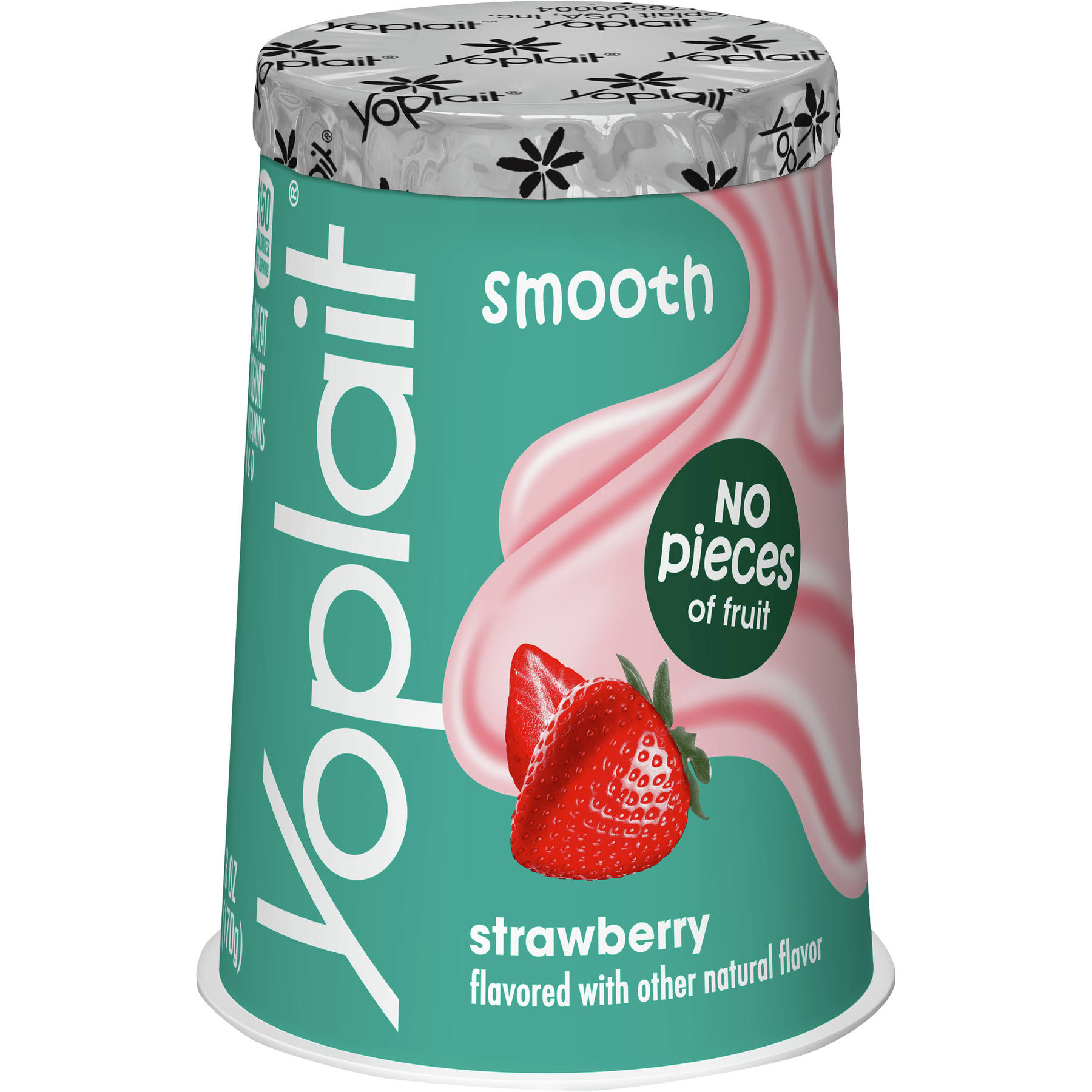 Yoplait Original Lowfat Yogurt No Fruit Pieces Strawberry Single Serve
