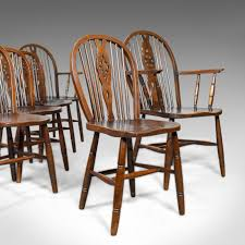 Set Of Six, Antique, Dining Chairs, English, Hoop Back, Windsor ... Tiger Oak Fniture Antique 1900 S Tiger Oak Round Pedestal With Ding Chairs French Gothic Set 6 Wood Leather 4 Victorian Pressed Spindle Back Circa Room 1900s For Sale At Pamono Antique Ding Chairs Of Eight Chippendale Style Mahogany 10 Arts Crafts Seats C1900 Glagow Antiques Atlas Edwardian Queen Anne Revival Table 8 Early Sets 001940s Extendable With Ball Claw Feet Idenfication Guide
