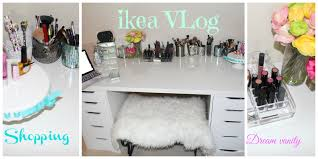 Linnmon Alex Desk Black shopping for vanity desk at ikea vlog first ikea vlog ever on
