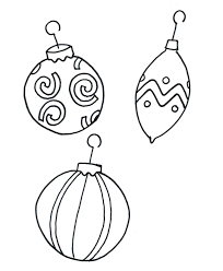 Printable Coloring Pages Christmas Ornament Free