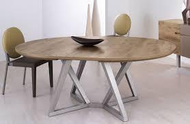 table ronde design avec rallonge collection avec table de salle a