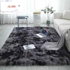 nordic mode flauschigen nicht slip gemischt gefärbt teppich wohnzimmer schlafzimmer zentrum teppich schwarz grau rosa blau große größe haar teppiche