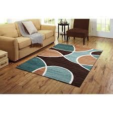 Brown And Aqua Living Room Pictures by Better Homes And Gardens Geo Waves Area Rug Or Runner Walmart Com