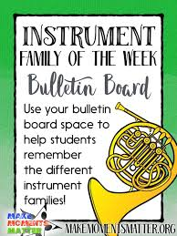 Fast And Fun Way To Reinforce The Instrument Families With Your Students Music Bulletin BoardsMusic ClassMusic EducationBoard IdeasPreschool