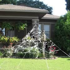 TOYMYTOY Halloween Spider Webs 1000 Sqft Halloween Cobwebs Haunted House Web Spider Webbing Decoration Indoor Outdoor Night Light Decoration 1000