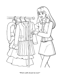 Lofty Inspiration Barbie Coloring Pages Games Doll Book For Me