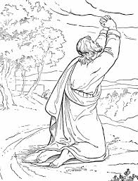 The Temptation Of Jesus Coloring Page