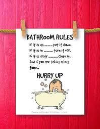 Funny Bathroom Art Etsy by 46 Best Bathroom Signs Images On Pinterest Bathroom Ideas