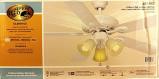 Hampton Bay Ceiling Fan Glass Dome by Hampton Bay Glendale 52 In White Ceiling Fan Amazon Com