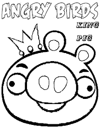 King Of Angry Bird Pigs Coloring Pages