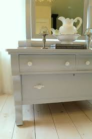 Shabby Chic White Bathroom Vanity by The Cottager Empire Dresser And A Custom Bathroom Vanity