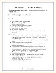 reception resume ideas ideas of cover letter for medical