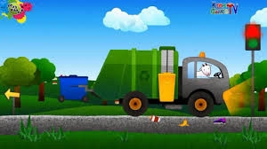 100 Garbage Truck Video Youtube Police Car Concrete Mixers S For Kids VROOM