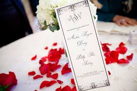 Very Elegant Black And White Wedding Program