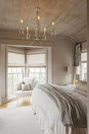 Exposed Wood On Ceiling Planked Walls And A Chandelier Make This Beautiful Rustic Chic Bedroom Is Very Quiet Room Perfect For Resting Or