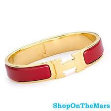 hermes h clic clac hermes gold plated clic clac h narrow bracelet enamel