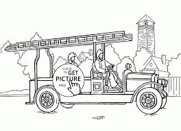 Coloring Pages Of Fire Trucks Inspirationa Coloring Pages Fire Truck ...