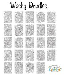 Wacky Doodles Coloring Book For Grown Ups