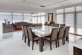 12 Seater Square Dining Room Table