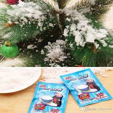 10 Packs Magic Snow DIY Instant Artificial Powder Simulation Perform Prop Party Christmas Decoration Children Kid Gift