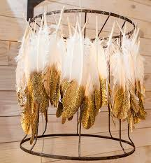 Wedding DIYs That Are Actually Worth It Luxe Feather Chandelier From Junk Gypsies