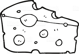 cheese clipart black and white 11