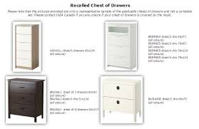 Ikea Brusali Chest Of Drawers by Ikea Recalling Drawers Manufactured From January 2002 To June 2016