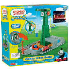Thomas The Train Tidmouth Sheds Playset by Thomas U0026 Friends Take N Play Cranky At The Docks Playset 33 00
