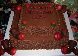 2 Tier Chocolate Cake With Chocolate Covered Strawberries on Cake Central