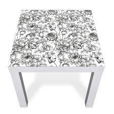 glasplatte ikea lack tisch weiß motiv schwarzweiße