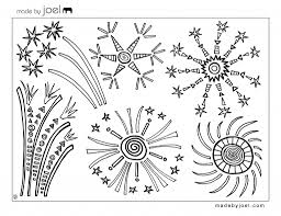 Made By Joel Fourth Of July Fireworks Coloring Sheet Print Them And Pages