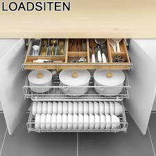 de cosina zubehör organizer schublade für organizador armario gericht edelstahl cocina rack küche küche schrank warenkorb