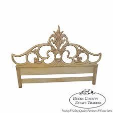 White King Headboard Ebay by Pretty Antique King Headboard On Vintage Tufted Velvet Upholstered