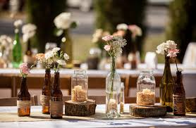 Adorable DIY Rustic Weddingtotal Cost Of Table Centerpieces Including Flowers For 18