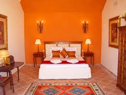 Orange Bedroom Decorating Ideas Absurd Master Wall Paint With Candle 2