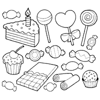 Candy Coloring Pages At Book Online