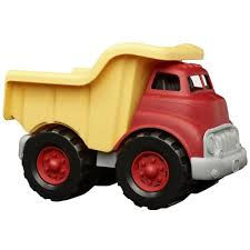 Amazon.com: Green Toys Dump Truck In Yellow And Red - BPA Free ...