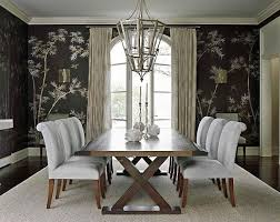 View In Gallery Bamboo Dining Room Wallpaper